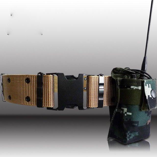 Conjuntos de pacote de combate camuflagem malhado walkie-talkie rádio colete pacote