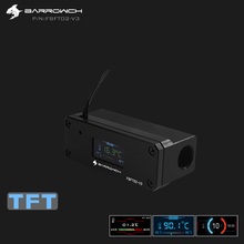 Barrowch OLED цифровой дисплей измеритель температуры воды система охлаждения воды с динамическим цветным экраном двойной G1/4 ''термометр