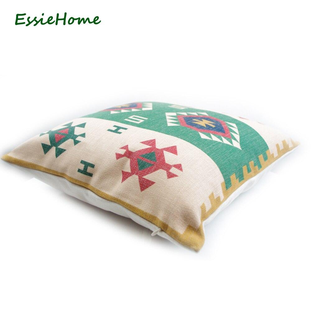 ESSIE HOME High End Digital Print Green Turkish Ethnic Kilim Diamond ...