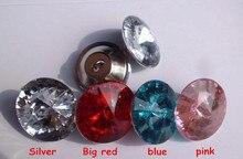 wholesale 400 PCS / lot 20 mm 4 color Sofa buckle Rhinestones crystal decorative buttons, Acrylic soft bag buckles