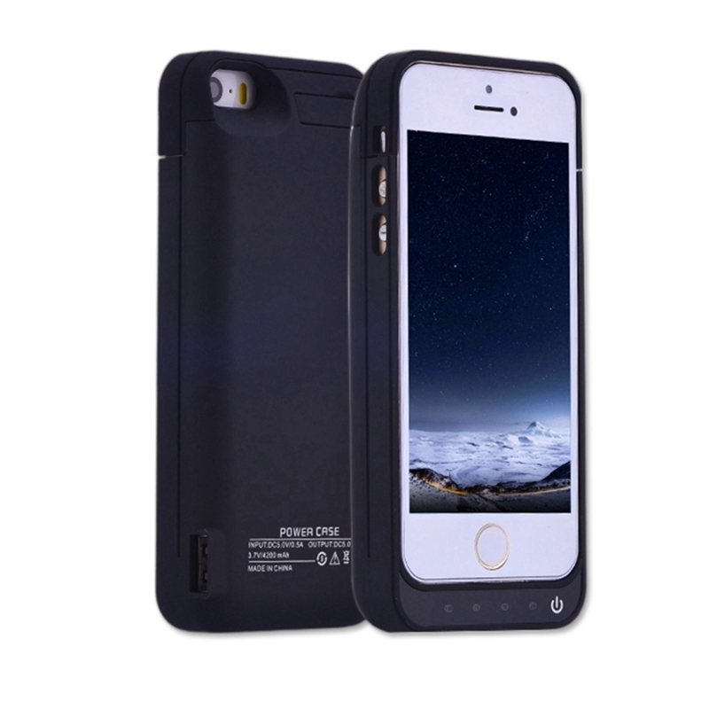 Battery Case for iphone 5 5g 5s 5c SE 4200mAh Charger Case for Apple iphone 5