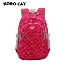 KOKOCAT Light Girl School Backpack Cushion Back Bag Waterproof  For Girls Children Bags Fashion