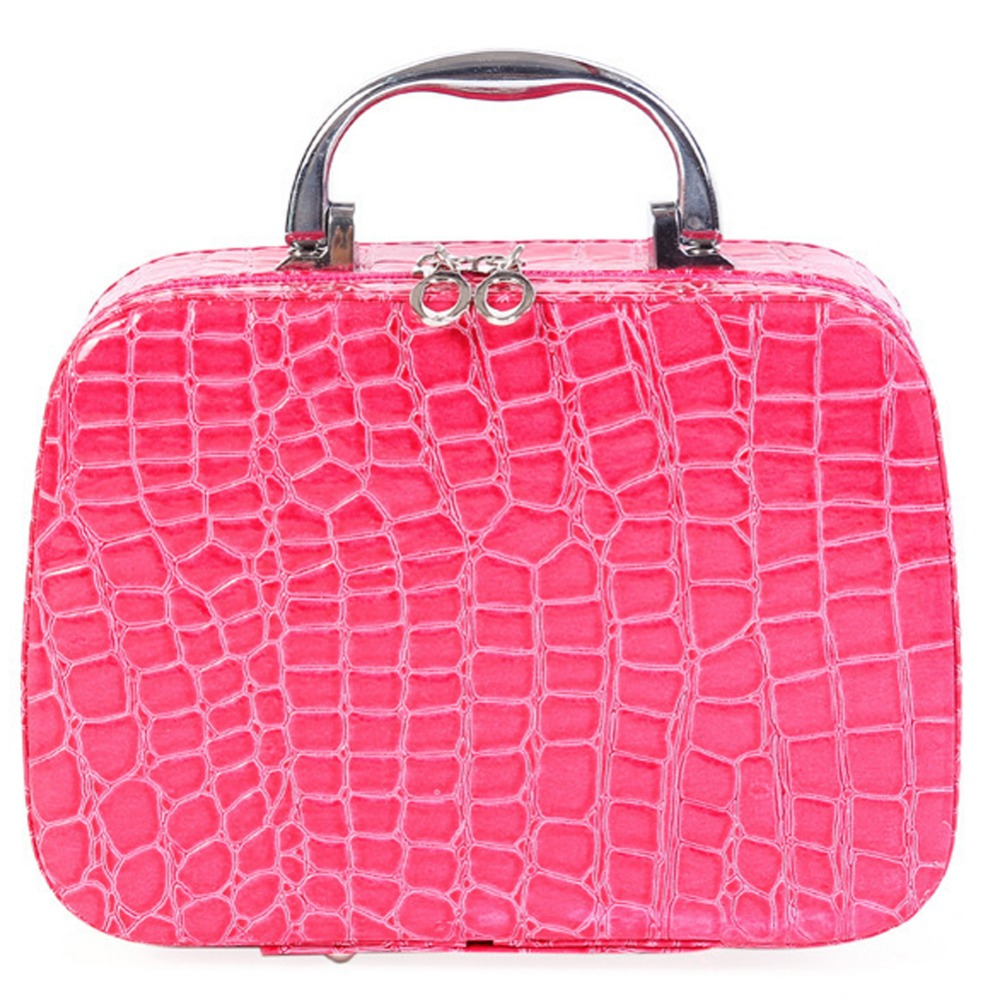 women cosmetic case fashion Cosmetic Bags Box Makeup Bag Beauty Case Travel bags Jewelry Display Case