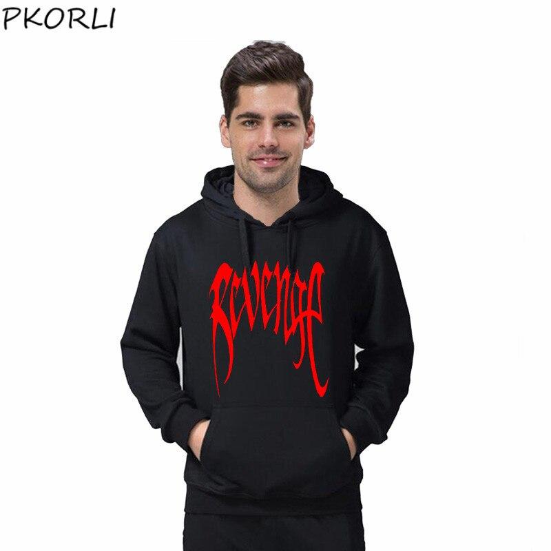 Pkorli Revenge Kill Hoodies Men Casual Hip Hop XXXTentacion Sweatshirt Bad Vibes Forever Traksuit Fleece Pullover Hoody Sudadera