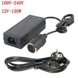 120 W AC 100 V - 240 V  to DC 12 V car cigarette lighter AC / DC adapter converter transformer DC power converter free delivery