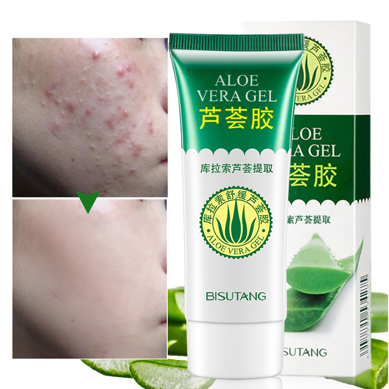 Face Cream Curacao Aloe Vera Gel Day Creams Natural Smooth Hydrating Acne Treatment Moist Repair After Sun Brighten Skin Care