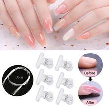 Nail Art Fiberglass For UV Gel DIY Nails White Acrylic Extension Tips Professional Kit Manicure Tool Set