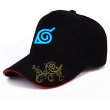 2018 Men Women Hip-pop Sun Hat Anime Naruto One Piece Fairy Tail Baseball Cap Snapback Black Hats Embroidery Cosplay Luminous
