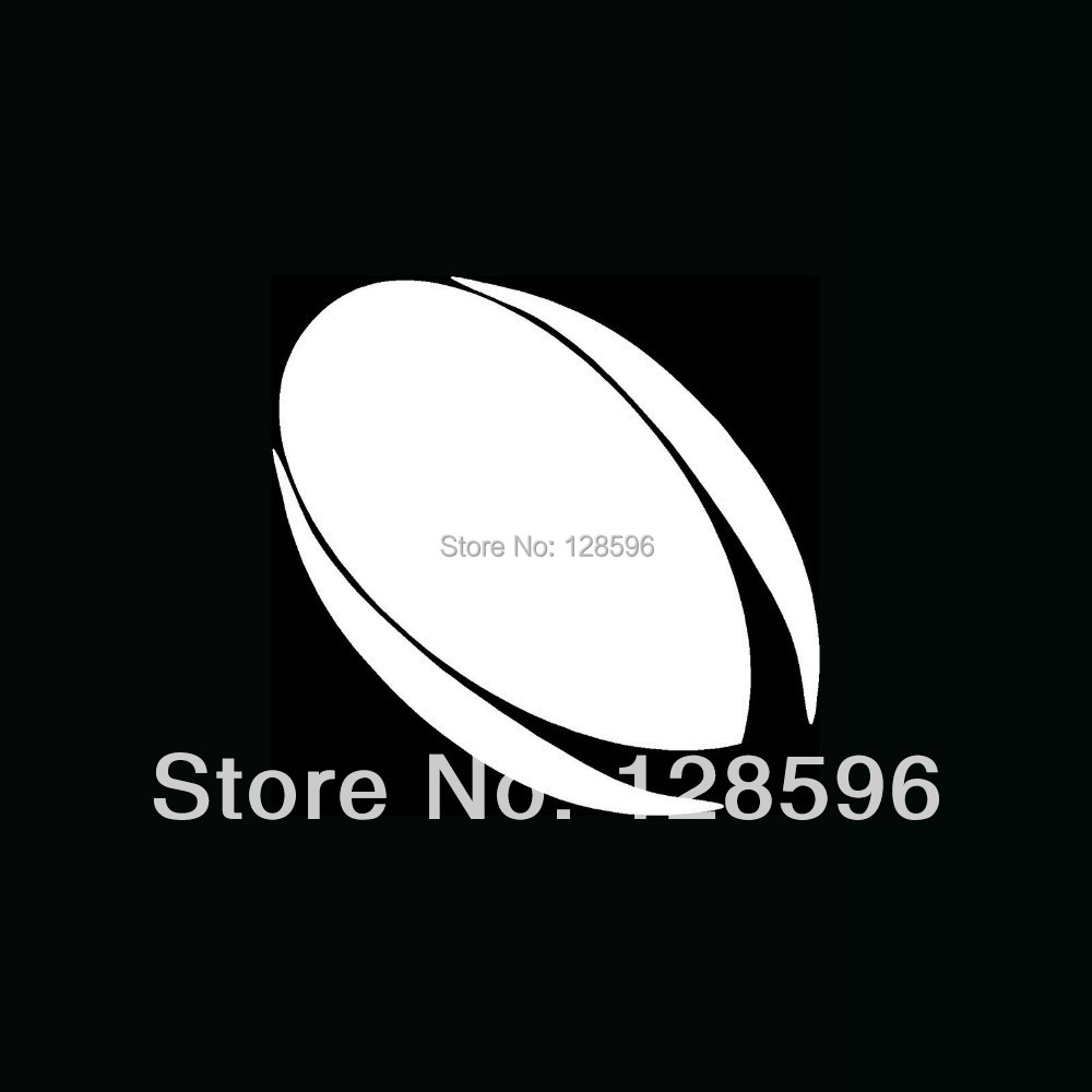 Aliexpresscom  Buy RUGBY BALL Silhouette Vinyl Sticker For Car - Car window decal stickers sports