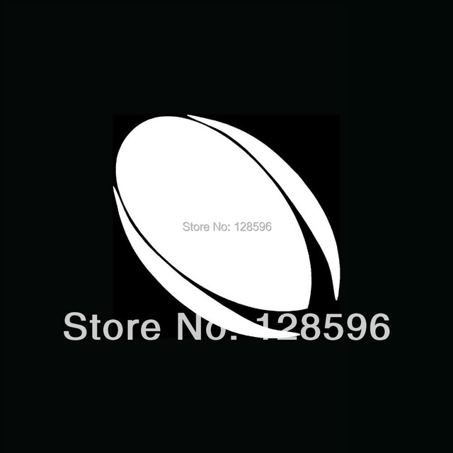 RUGBY BALL Silhouette Vinyl Sticker For Car Window Decal Laptop - Window decals for sports