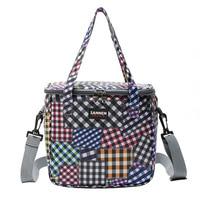 9L picnic Oxford cloth trumpet insulation bag, portable thermal insulation bag, cold storage bag, cooler bags
