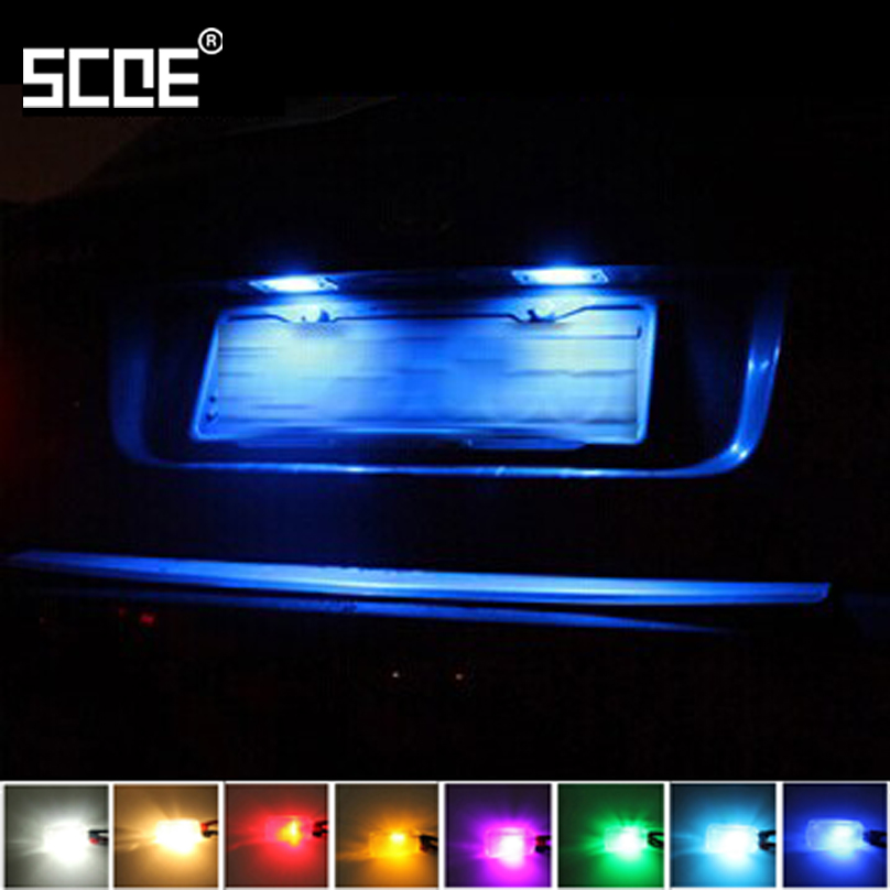 For Opel Zafira B (A05) Zafira Tourer C (P12) Agila B SCOE 2015 New 2X6SMD 5050LED License Plate Light Bulb Source Car Styling wireless control rgb color interior underdash foot accent ambient light for opel zafira a b c for chevrolet zafira tourer