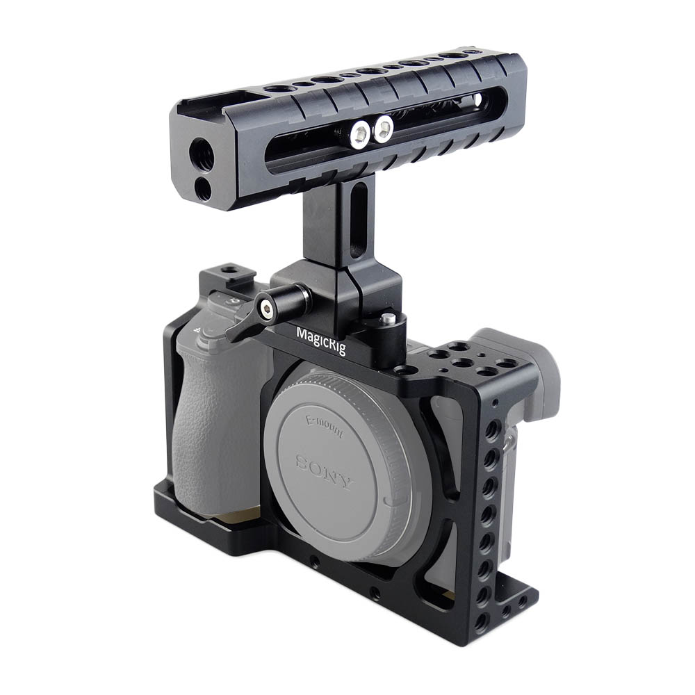 MAGICRIG DSLR Camera Cage with Quick Release NATO Handle for Sony A6000/ A6300/ A6500/ ILCE-6000/ ILCE-6300/ ILCE-6500/ NEX7 waraxe a6 camera cage for sony ilce 6000 ilce 6300 ilce a6500 with 1 4 and 3 8 threaded holes cold shoe base free shipping