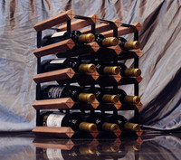 Classic Gridding Wine Red Wooden Red Wine Rack 6/9/12/15 Bottles Holder four types to choose
