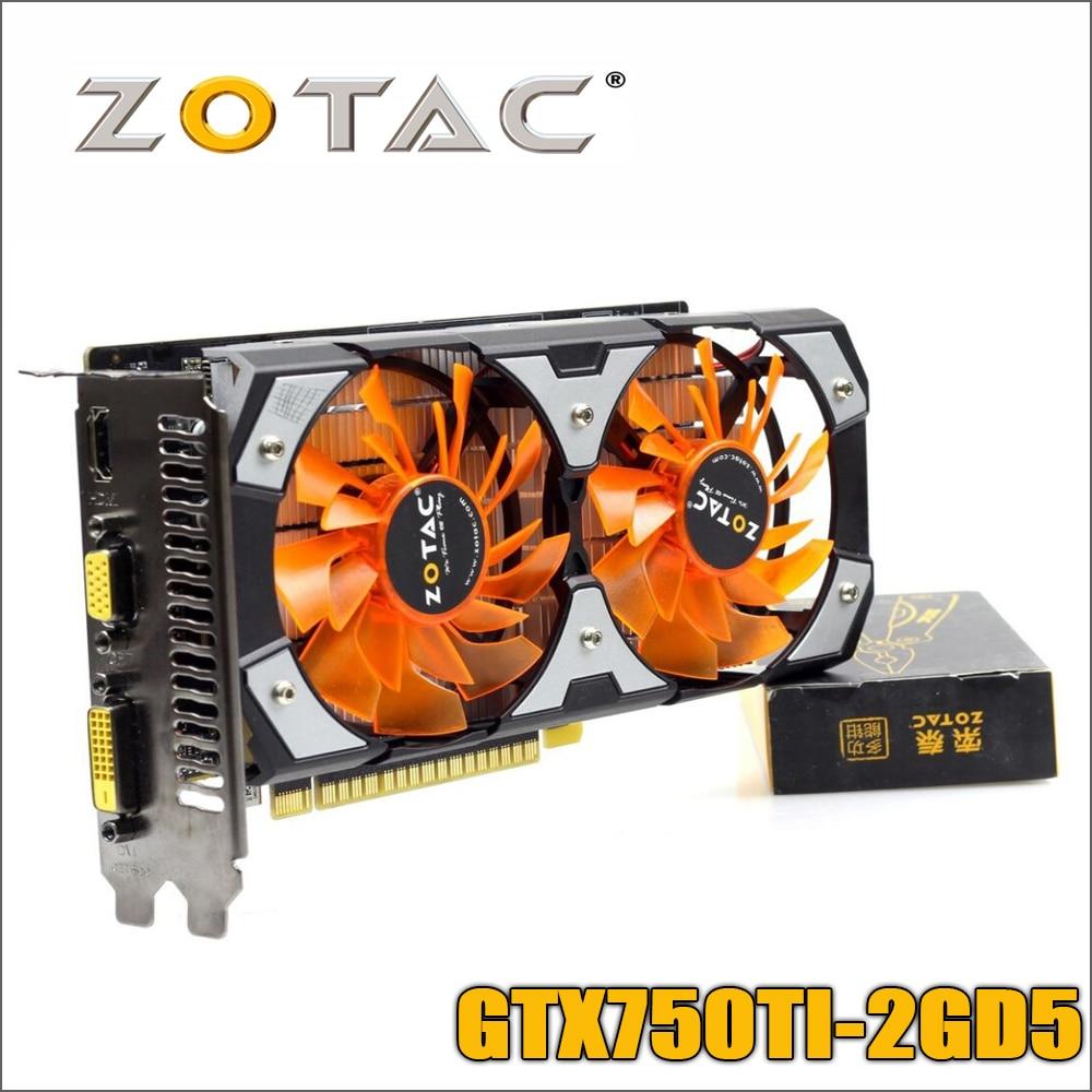 все цены на Used original ZOTAC Video Card GTX 750Ti-2GD5 GDDR5 Graphics Cards For nVIDIA GeForce GTX750 Ti 2GB GTX 750 TI 2G 1050ti Hdmi