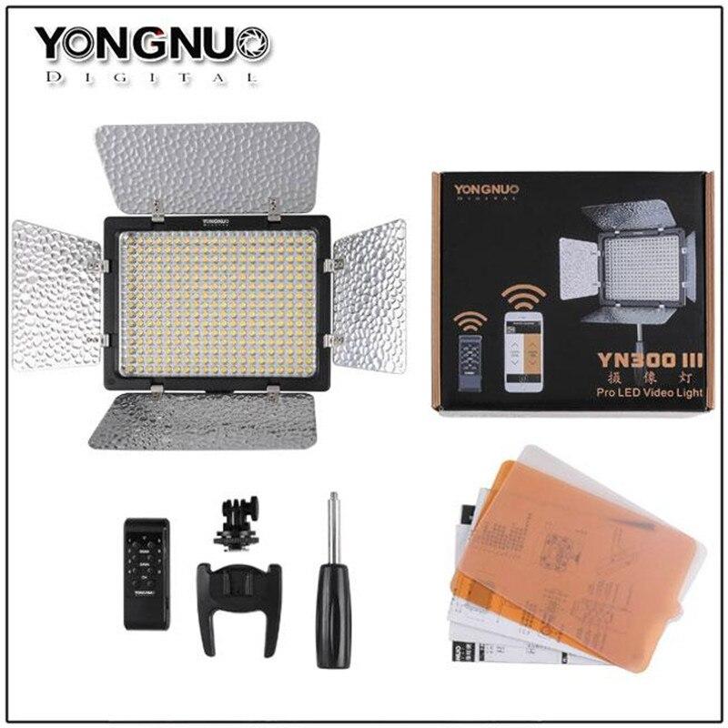 YONGNUO YN300 III YN-300 III caméra led éclairage vidéo avec Réglable couleur température 3200 K-5500 K pour Canon Nikon Pentax Olympe