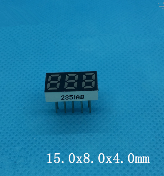 20PCS x 0.25 inches Red /Blue Common Cathode/ Anode 3 Digital Tube LED Display Module 10pin