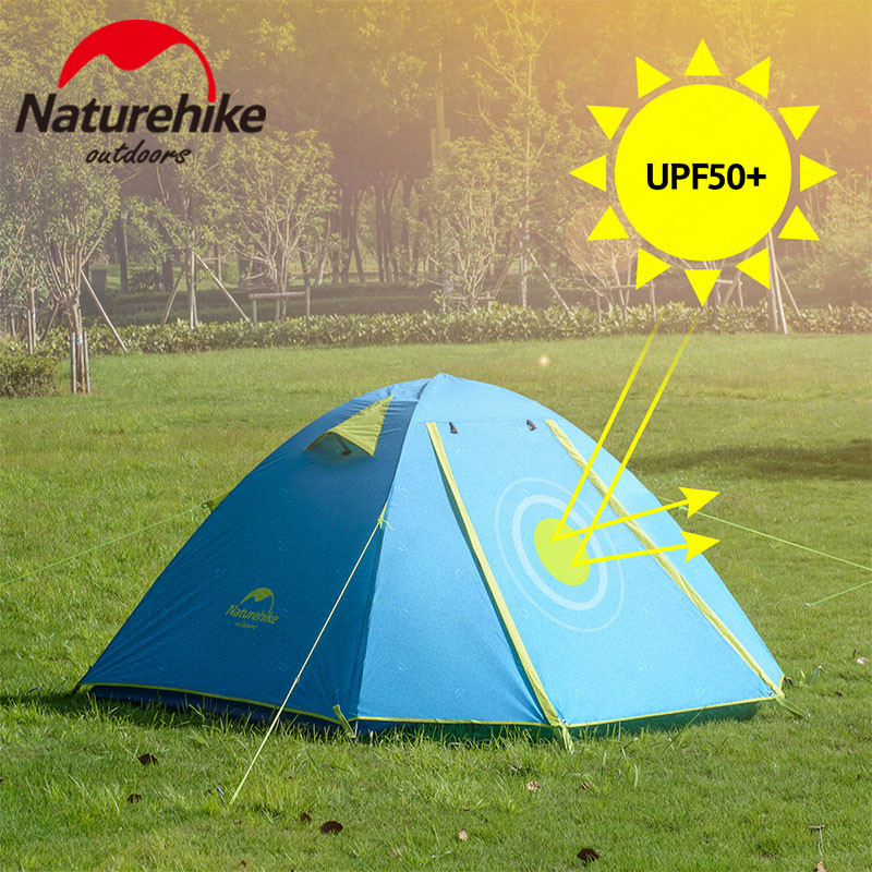 Naturehike P Series Camping Tent Ultralight 2 3 4 Persons Outdoor UPF50 Family Tent Aluminum Poles