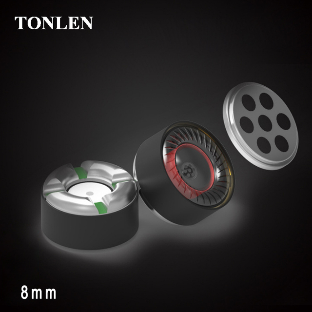 TONLEN Headphone Speaker Accessories 8mm Sports Bluetooth Headset Unit Full Frequency Nonpaper Diaphragm Wireless Headset 2pcs