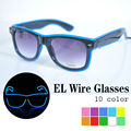 Free ship EL glasses El Wire Fashion Neon LED Light Up Shutter Shaped Glow SunGlasses Rave Costume Party DJ Bright Glasses