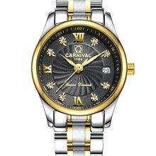 Carnival Luxury Brand Watch Women Japan Quartz clock Switzerland Women Watches Male Waterproof Military reloj hombre C8827L-4