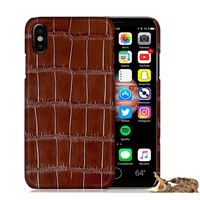 Luxury Natural Crocodile Skin Case For IPhone X Cover Genuine Leather Phone Cases For Apple IPhone