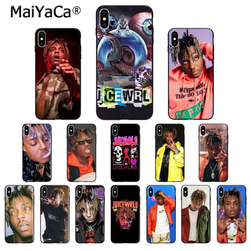 MaiYaCa Juice WRLD TPU Soft Phone Accessories Phone Case for iPhone 8 7 6 6S Plus 5 5S SE XR X XS MAX Coque Shell