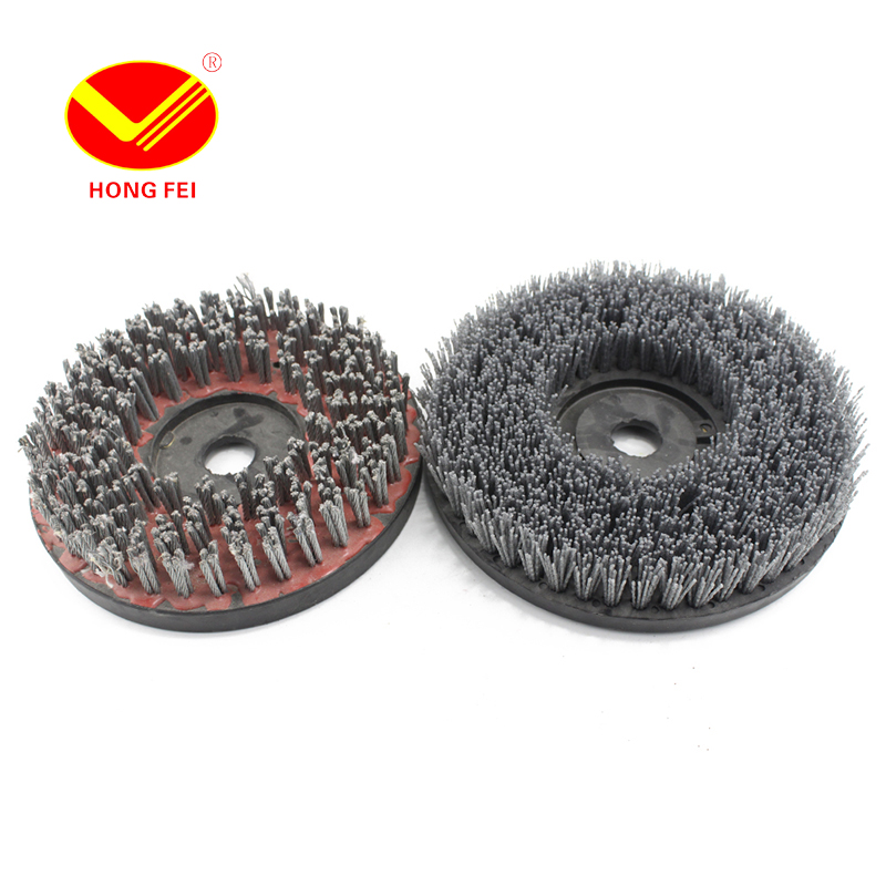 HongFei Round Abrasive Brushes Steel Wire Brush Surface Grinding Stone Processing Resin Brush Cleaning Impurity of Concrete