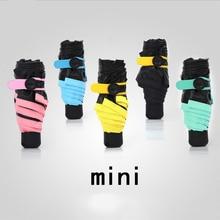 Kreative Leichte Taschenschirm Sonnenschirm Klar Regenschirme Mini Mode Fünf Taschenschirm Neuheit Elemente