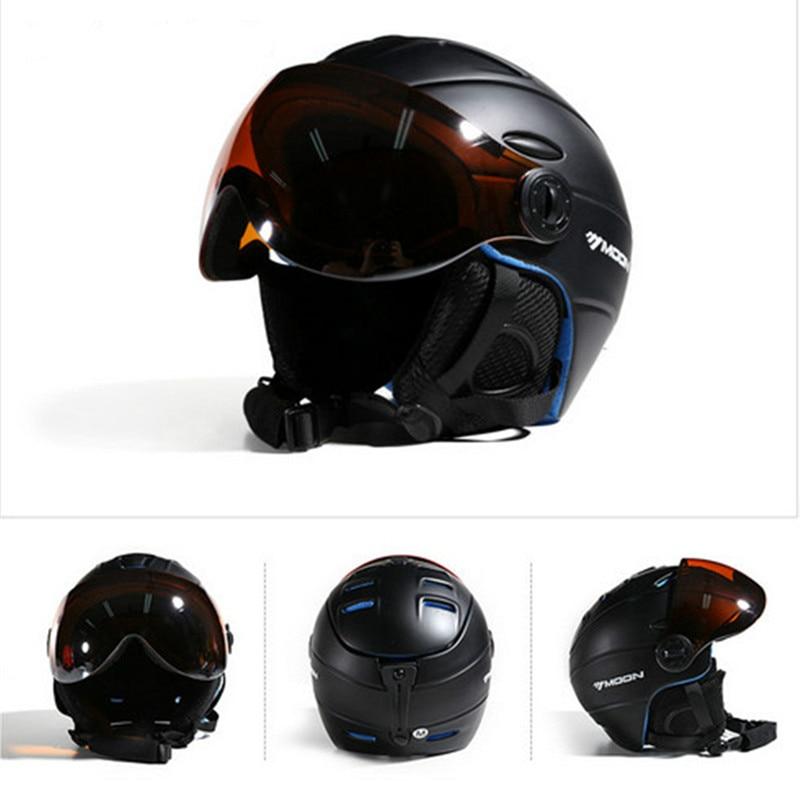 MOON Skateboard Skis Helmet  Integrally-Molded Goggles Skiing Helmet Men Women Adult Outdoor Sports Snowboarding Helmet M/L/XL