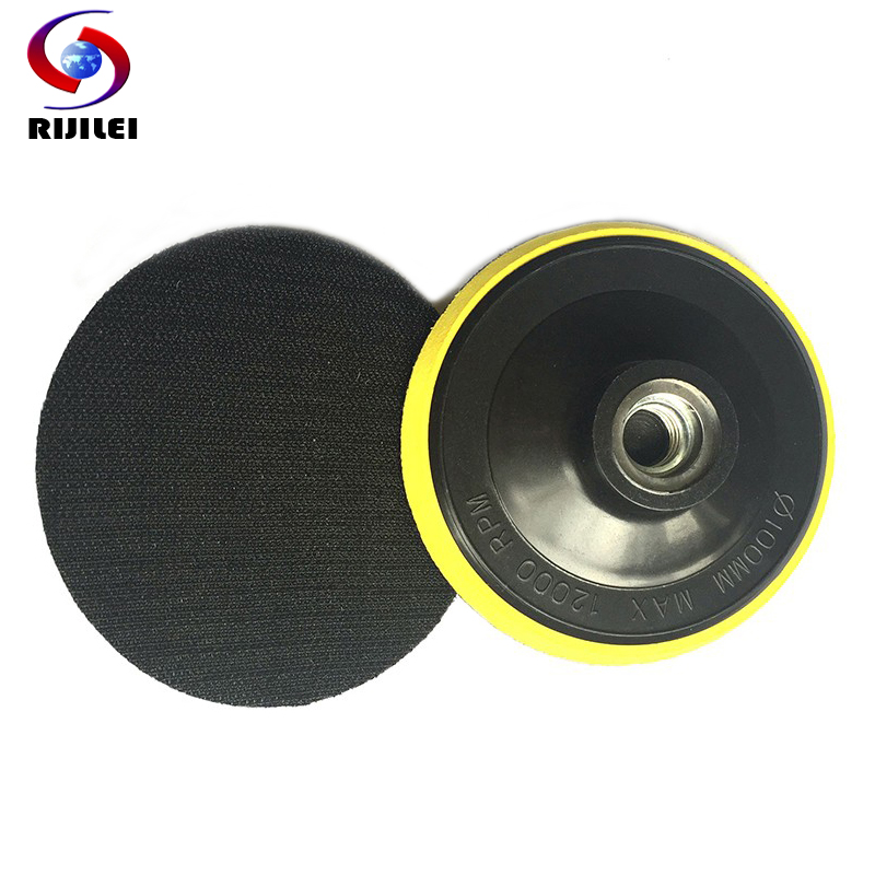 RIJILEI 100mm M10/M14 Self-adhesive Rubber Backer Pad Marble Granite Bubble Plastic Back-up Pads For Polishing Pad 4HF