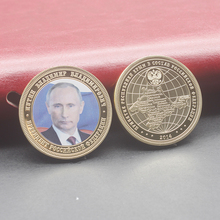 Russia President Vladimir Putin Crimean Map Gold Plated Commemorative Coin Token