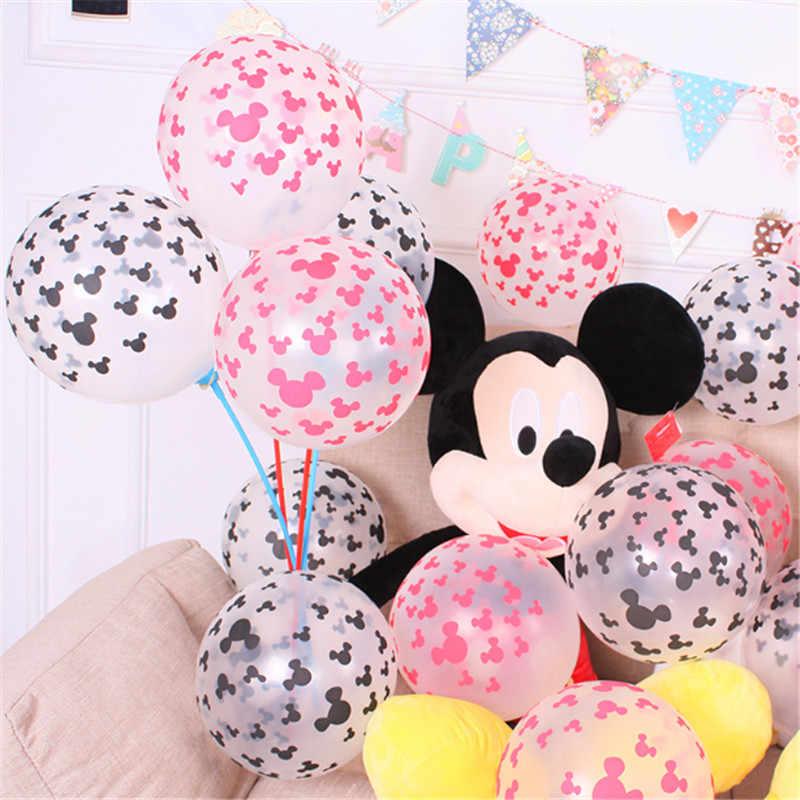 10 шт. 12 дюймов Единорог вечерние Микки Воздушные шары в форме мыши globos прозрачные с днем рождения Свадебный шар надувные шары для вечеринки