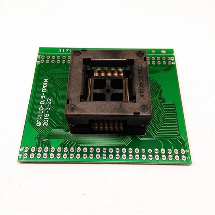 Free TQFP100 FQFP100 QFP100 to DIP100 Programming Socket OTQ-100-0.5-09 Pitch 0.5mm IC Body Size 14x14mm Test AdapterFree TQFP100 FQFP100 QFP100 to DIP100 Programming Socket OTQ-100-0.5-09 Pitch 0.5mm IC Body Size 14x14mm Test Adapter