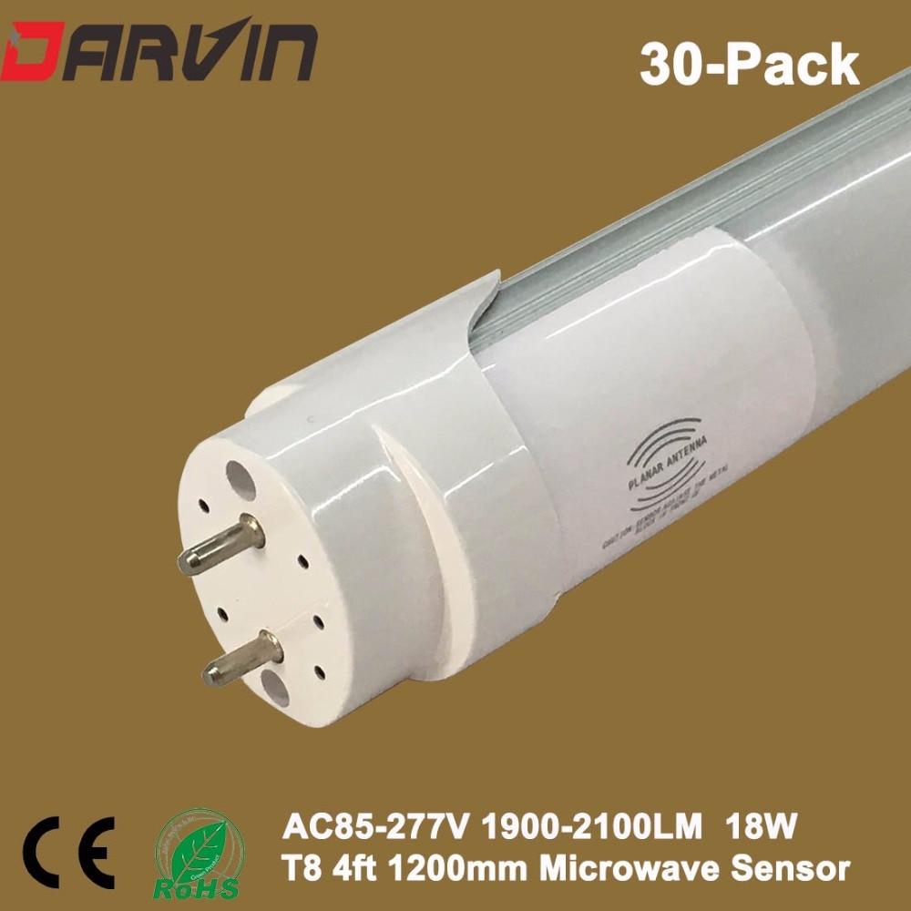 medium resolution of led tube t8 with radar sensors light lamp 4ft 1200mm fluorescent 120cm 18w 220v 6500k daylight