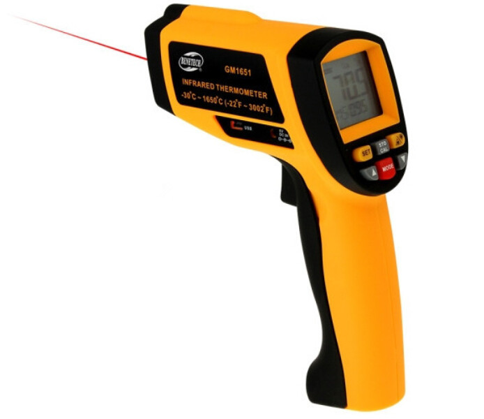 Professional Infrared Thermometer USB Digital Display Temperature Gun Handheld Infrared IR Temperature Meter 30~1650 Centigrade