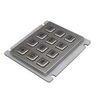 IP65 100% Waterproof keyboard Stainless Steel Industrial Keyboard With 12 keys Matrix Metal Keyboard Telephone Keypad