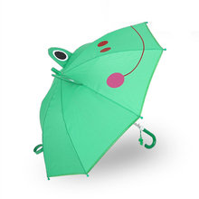 Cartoon Childrens Umbrella Semi-automatic Sunscreen Straight Handle Shade For Child Student
