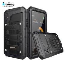 Ascromy funda impermeable para iPhone 7, protección a prueba de golpes IP68, protección de cuerpo completo de 360 grados para iPhone 8 Plus 7 6 6S X