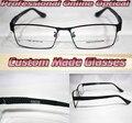 Aro completo Super leve moda Óptico preto Custom made lentes ópticas óculos de leitura + 1 + 1.5 + 2 + 2.5 + 3 + 3.5 + 4 + 4.5 + 5 + 5.5 + 6