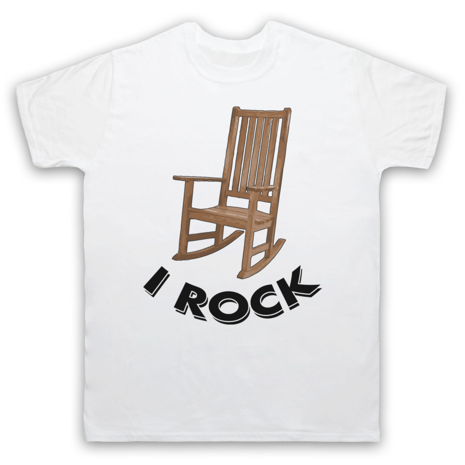 5e78a37ee I ROCK ROCKING CHAIR FUNNY COMEDY JOKE PUN COOL CUTE MENS WOMENS KIDS T  SHIRT Short Sleeves Cotton T Shirt Free Shipping-in T-Shirts from Men's  Clothing on ...