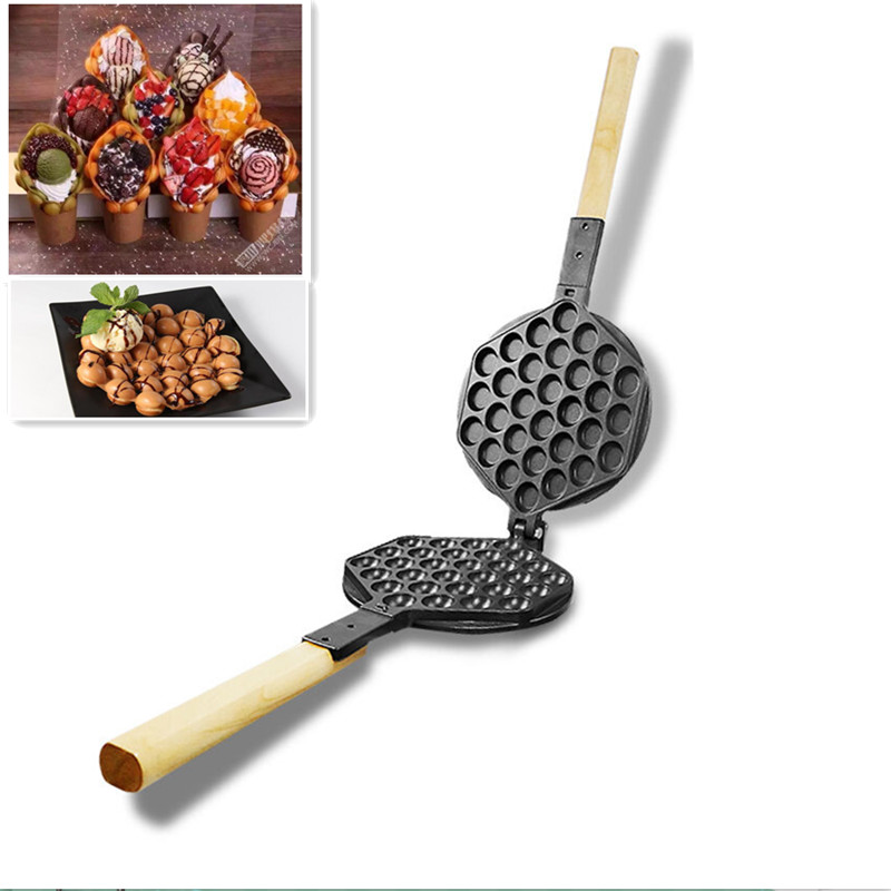 Non-Stick Surface Waffle Maker Replacement Eggettes Bubble Egg Waffle Mold Plate For Eggette Ice Cream custom plastic mold maker electronics component mold maker
