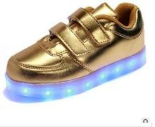 Retail 2017 children's shoes led lights young / girl USB charger bright light shoes casual shoes sneakers