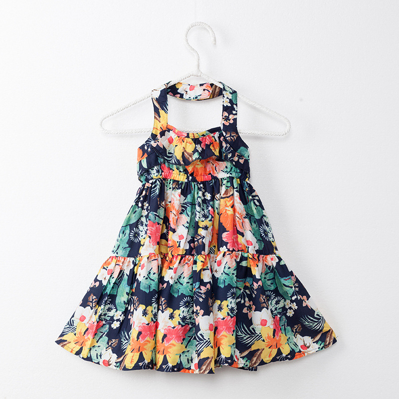 6b8cea9ed1b74 2017 Gulugulumi Brand Baby Girls Summer Holiday Beach Dresses Strap ...
