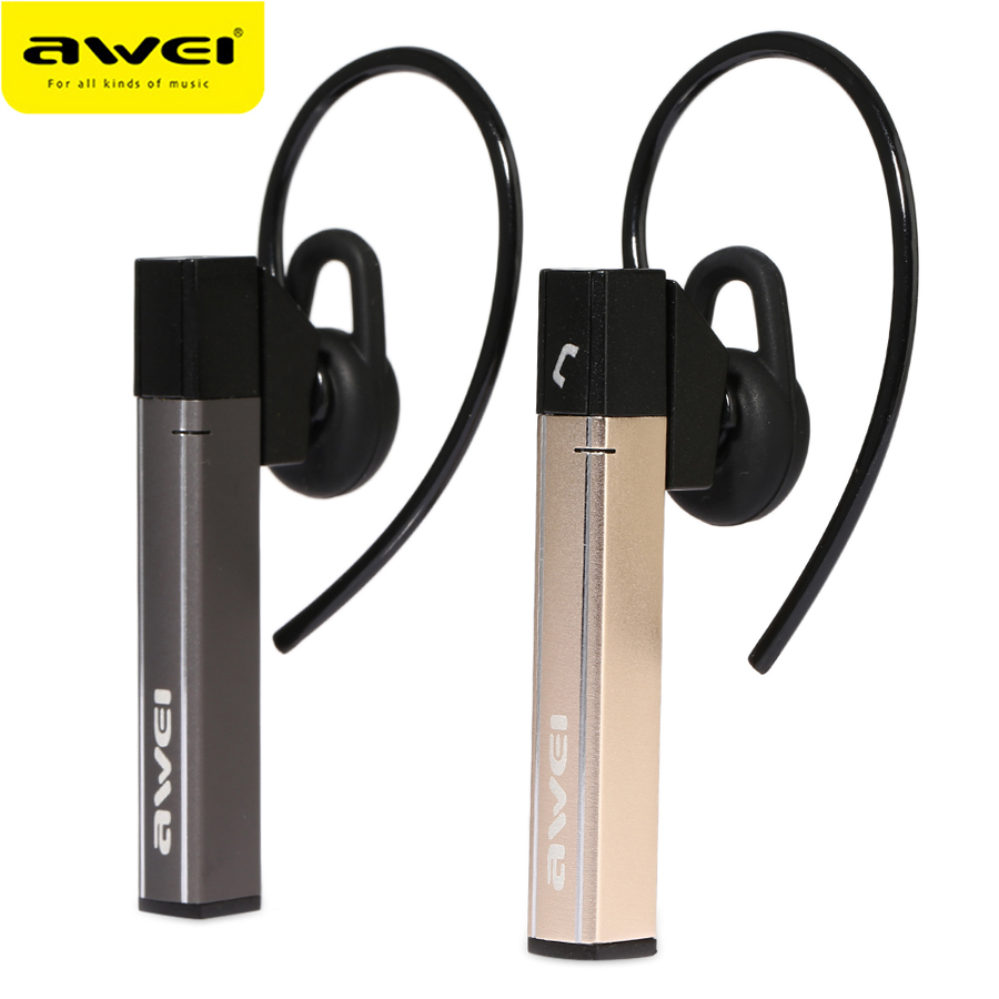 Awei Blutooth Cordless Wireless Headphone Hand Free Earpiece Auriculares Handsfree Mini Bluetooth Headset Earphone For Ear Phone  2pcs hand free mini auriculares bluetooth stereo headset x5ear earphone phone cordless wireless headphones headphone smart phone