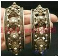 Classical pair of Chinese tribal Miao silver bracelet