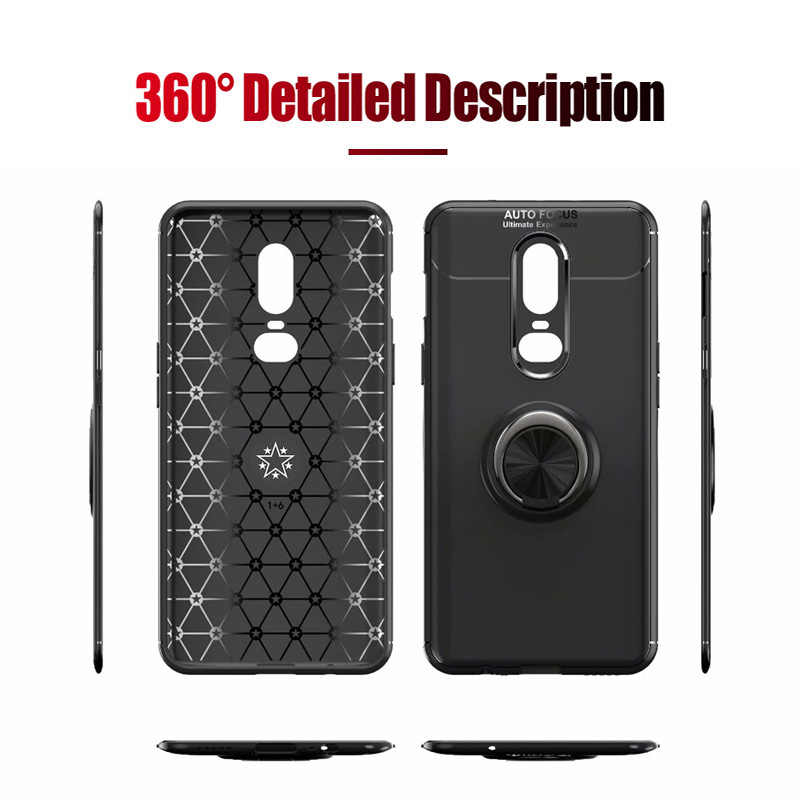 be48e79d56b ... For Oneplus 6T Case Silicone Soft TPU Back Cover Accessories With  Magnetic Holder Bumper Coque Case ...