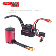 цена на KK 3.175mm Shaft 3650 Waterproof Combo 2050KV 2300KV 3100KV  Brushless Motor w/ 45A ESC for RC 1/10 GTR Monster Truck Buggy Car