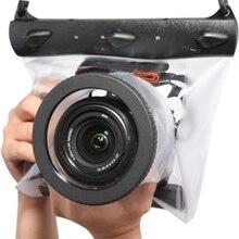 Conjunto de bolsas para câmera dslr canon, capa seca à prova d água para câmera de mergulho até 20 metros slr slr