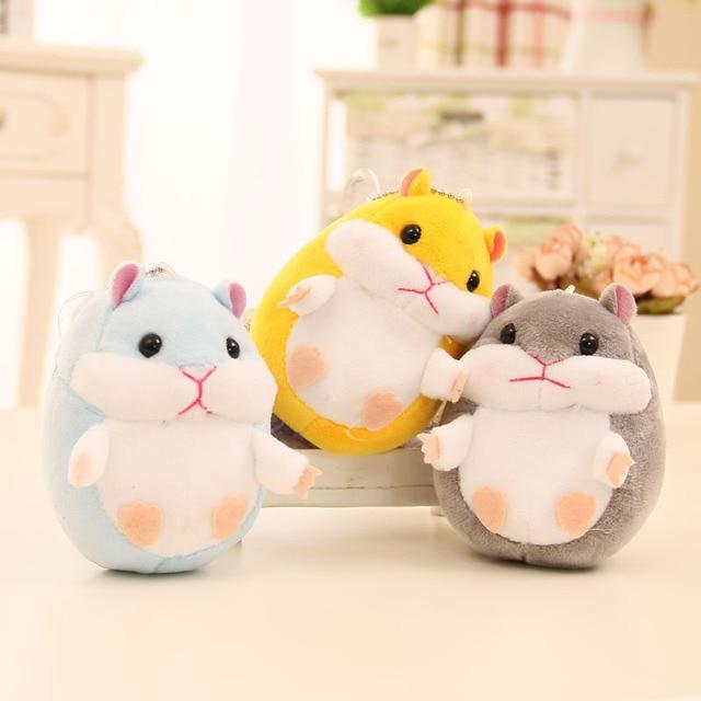 10 Cm 1 Stks Oft Pluche Cartoon Dier Roze Blauw Kleine Hamster